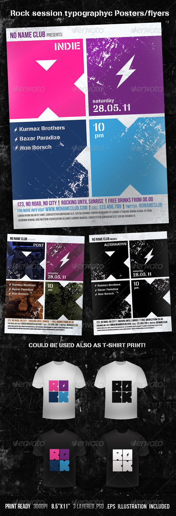 GraphicRiver Rock Session Typographic Poster Flyer 230221