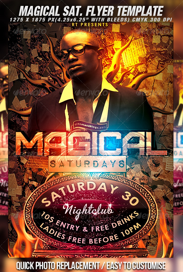GraphicRiver Magical Saturdays Flyer Template 397069