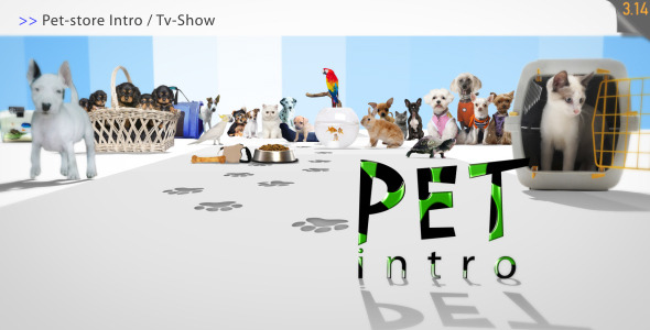 After Effects Project - VideoHive Pet Store Intro Tv Show 1952833