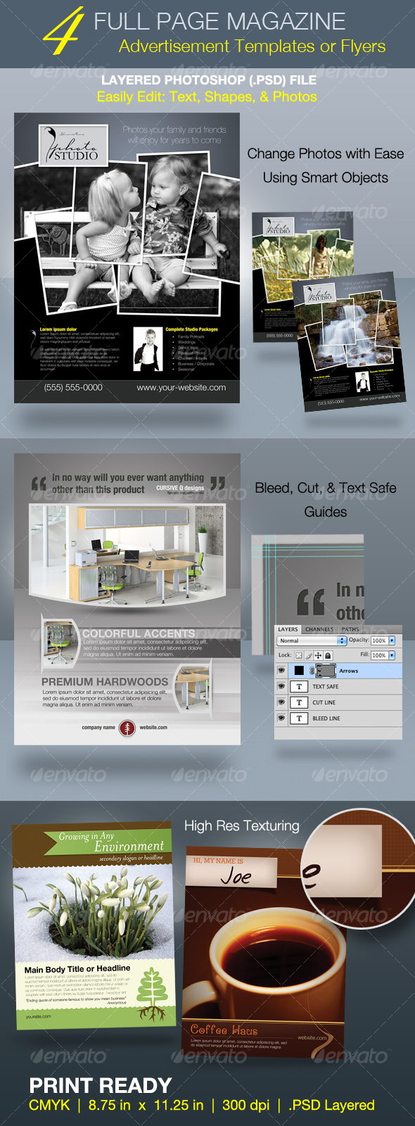 GraphicRiver Full Page Magazine Ad or Flyer Templates 76133