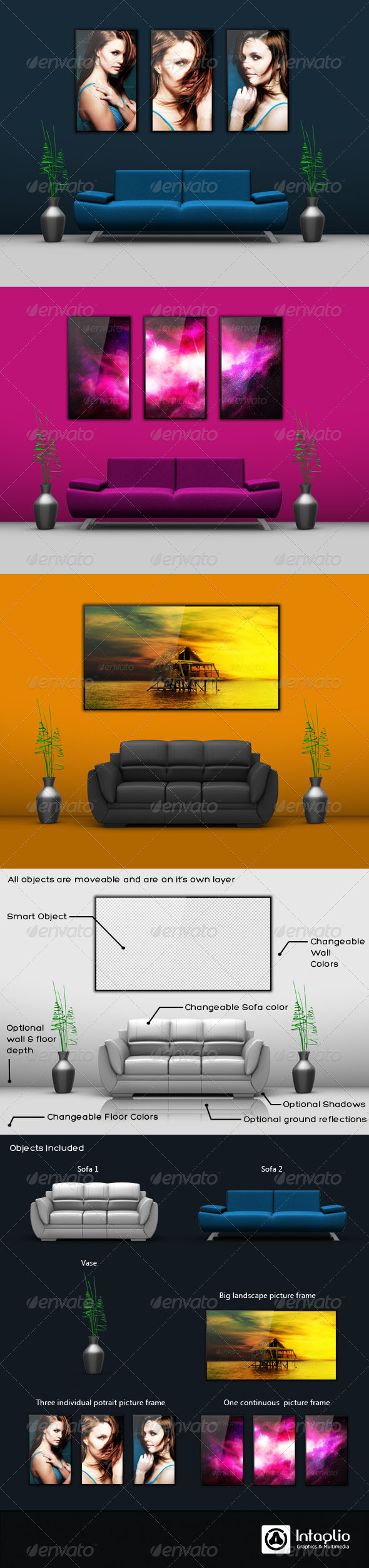GraphicRiver Wall Picture Mockup 573480