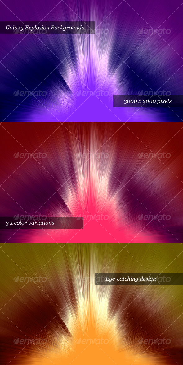 GraphicRiver Galaxy Explosion Web Backgrounds 75048