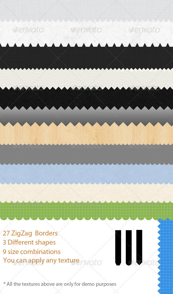 GraphicRiver 27 ZigZag Border Patterns 1984510