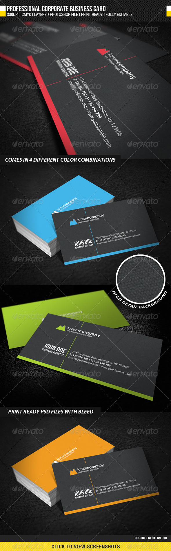 GraphicRiver Professional Corporate Business Card 1986593