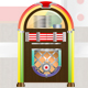 1950s Glossy Retro Jukebox - GraphicRiver Item for Sale