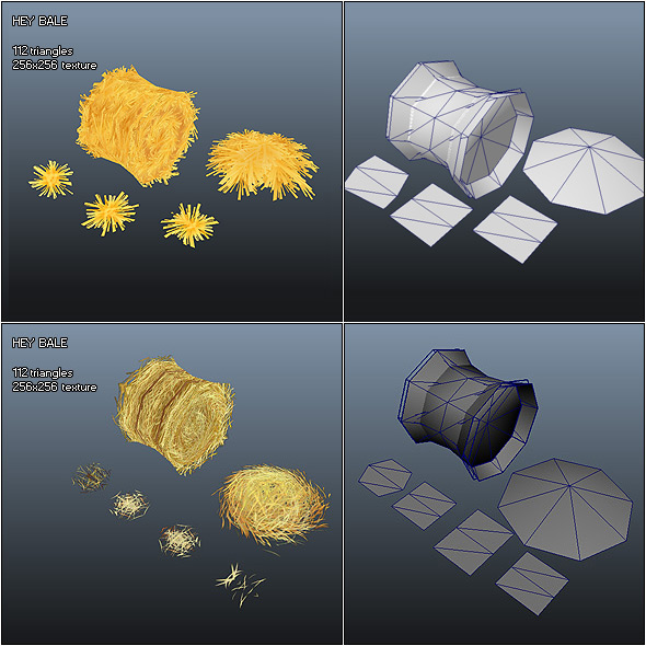 3DOcean Low Poly Hay Bale 230043