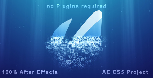 VideoHive Underwater Logo Reveal and Dispersion 1990857
