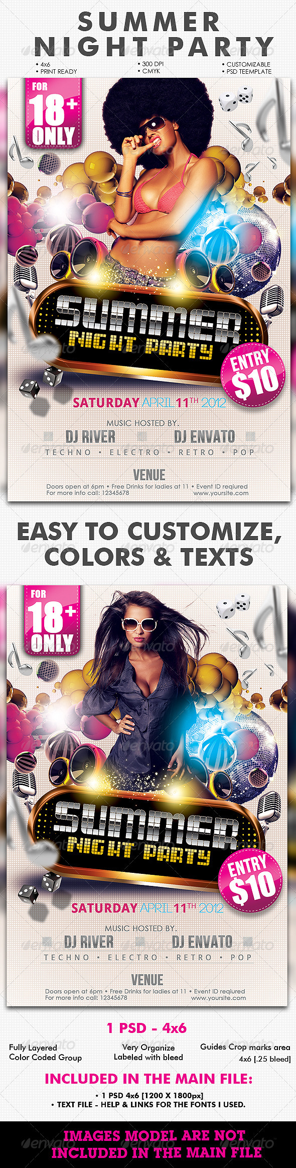 GraphicRiver Summer Night Party Flyer 1992129