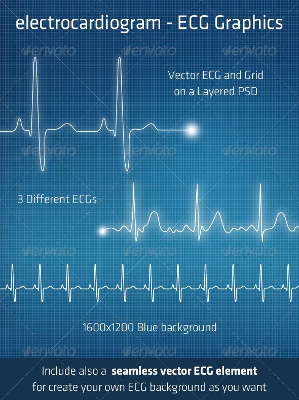 GraphicRiver ECG Electrocardiogram Background Elements 231758