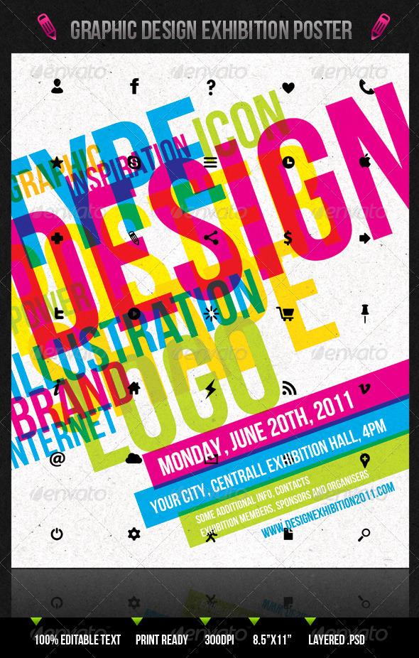 GraphicRiver Graphic Design Exhibition Poster Flyer 231772