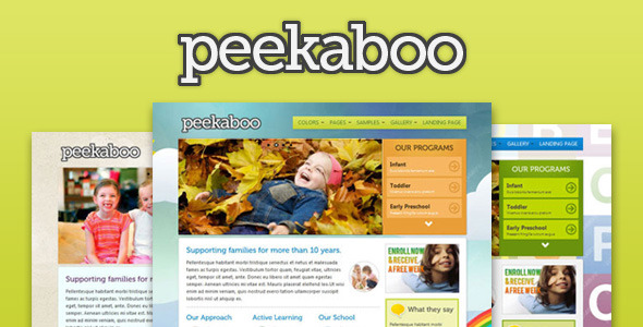Pekaboo - Children Theme HTML Template - ThemeForest