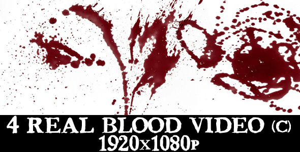 VideoHive 4 Blood Splatter Video Full HD 1995315