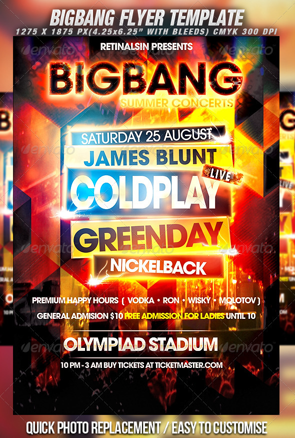 GraphicRiver BigBang Flyer Template 262923