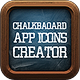 Chalkboard App Icon Pro Creator - GraphicRiver Item for Sale