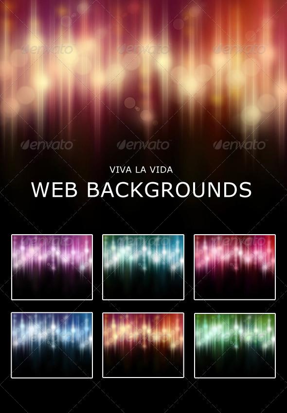 GraphicRiver Viva La Vida Web Backgrounds 232131