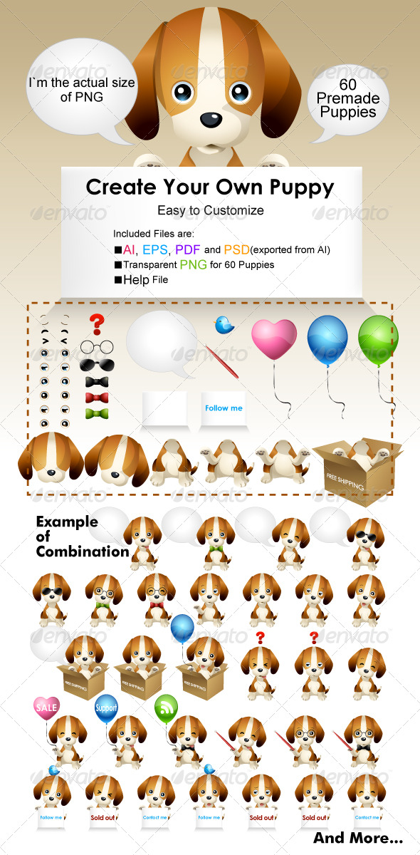 GraphicRiver Puppy Mascot 232407