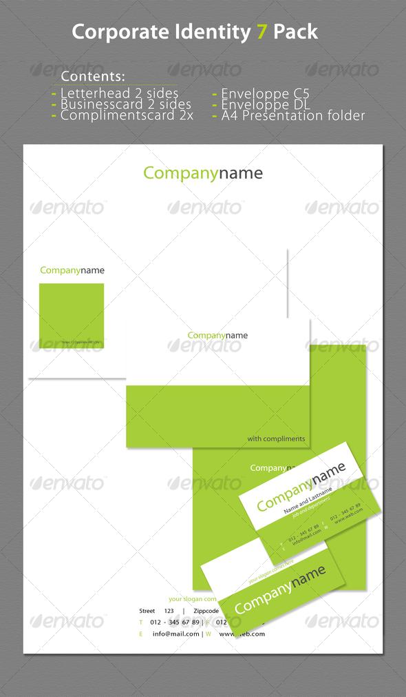 GraphicRiver Corporate Identity 7 Pack 70725