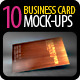 10 Realistic Business Card Mock-up Pack Bundle  - GraphicRiver Item for Sale