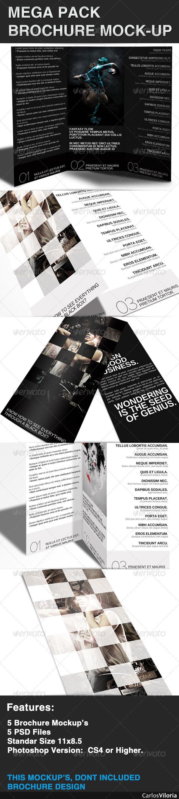 GraphicRiver Mega pack Brochure Mock-Up 42685