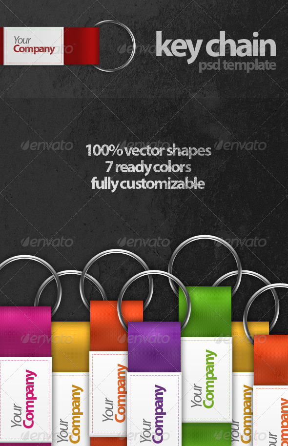 GraphicRiver Key Chain PSD Template 232816
