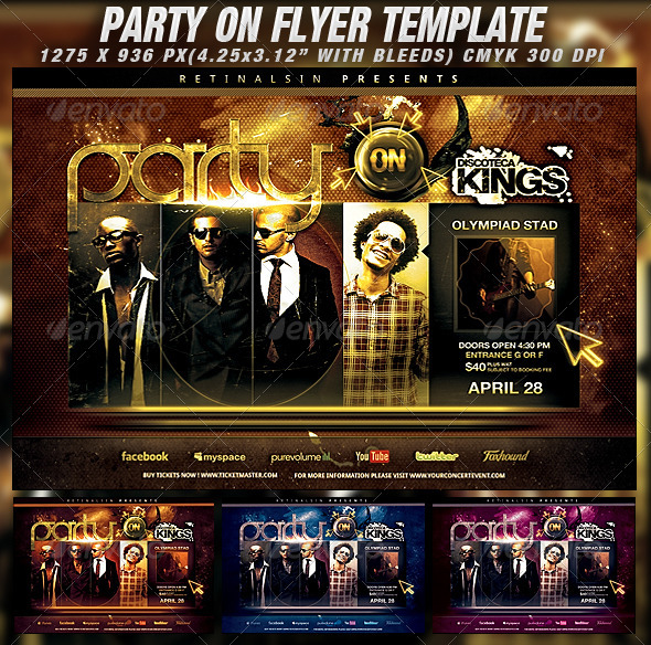 GraphicRiver Party On Flyer Template 1963261