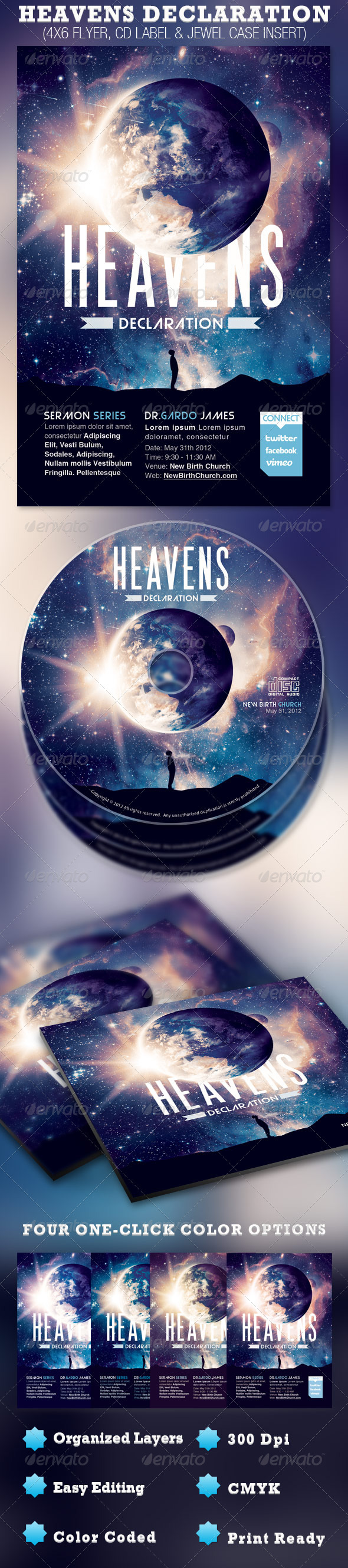 GraphicRiver Heavens Declaration Flyer and CD Template 2003900