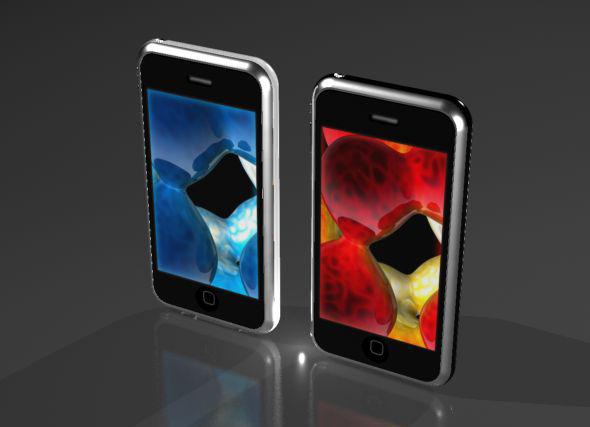 3DOcean Sleek Touchscreen Smart Phone 3D Models -  Electronics  Computers 75541