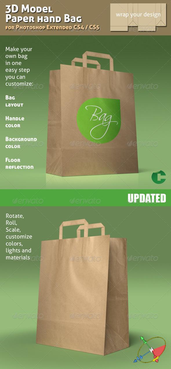 GraphicRiver 3D Object 02 Paper Bag Mock-up 138087