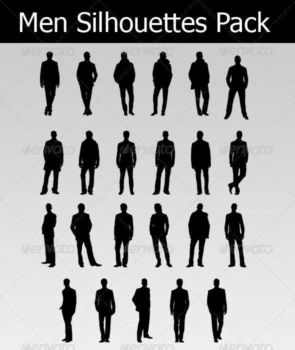 GraphicRiver Men Silhouettes Pack 233737