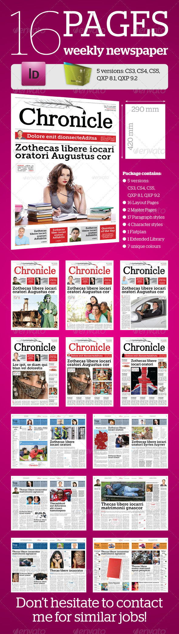 GraphicRiver 16 Pages Weekly Newspaper 1806203
