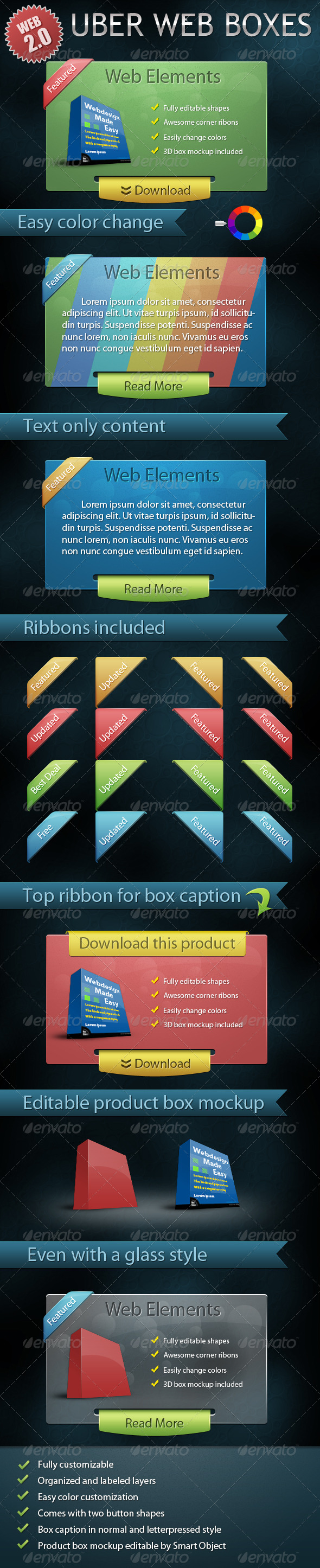 GraphicRiver Uber Web Boxes 233807