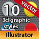 10 3D Fresh Illustrator Graphic Styles - GraphicRiver Item for Sale