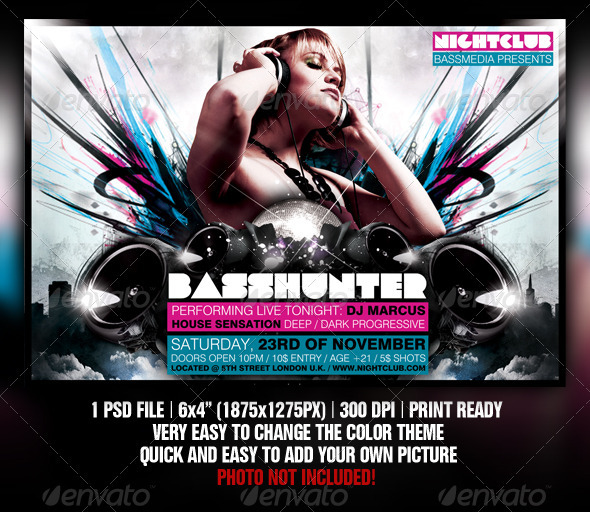 GraphicRiver Basshunter Party Flyer Template 1376699