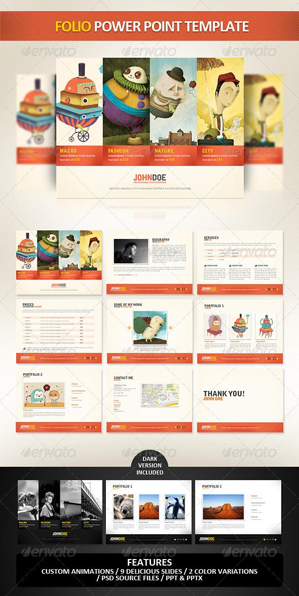 GraphicRiver Folio PowerPoint Presentation Template 233952