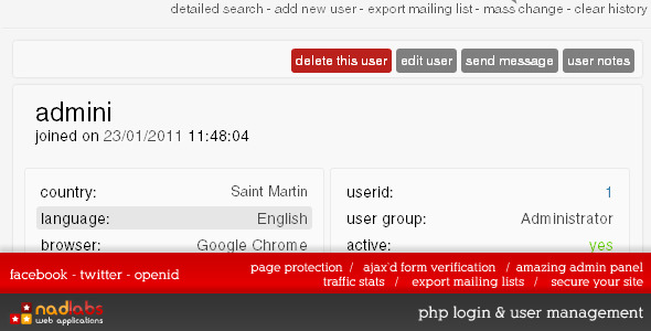 CodeCanyon - Ajax'd PHP Login, User Management & Site Security