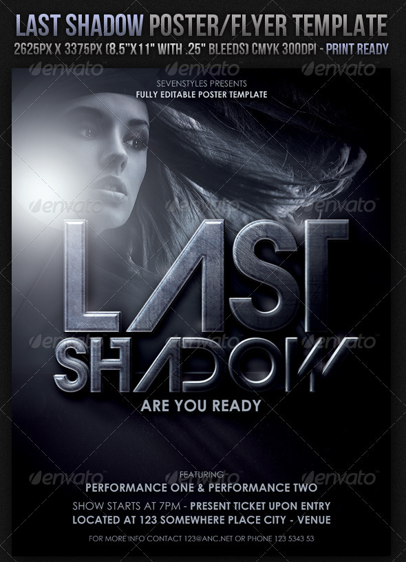 GraphicRiver Last Light Poster Flyer Template 156557