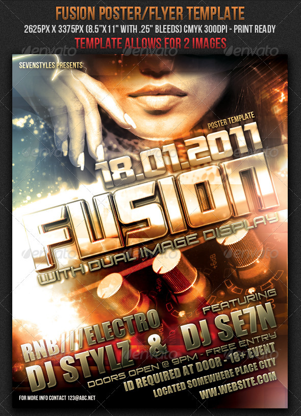 GraphicRiver Fusion Poster Flyer Template 151353