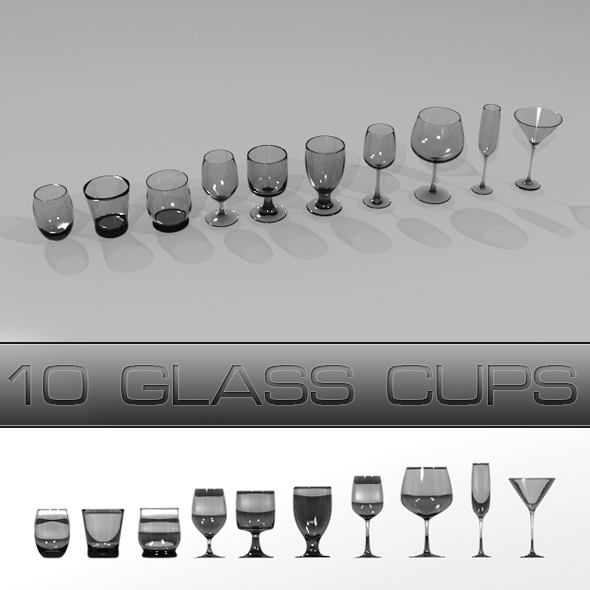 3DOcean Glass Cups 3D Models -  Furnishings  Other 76920