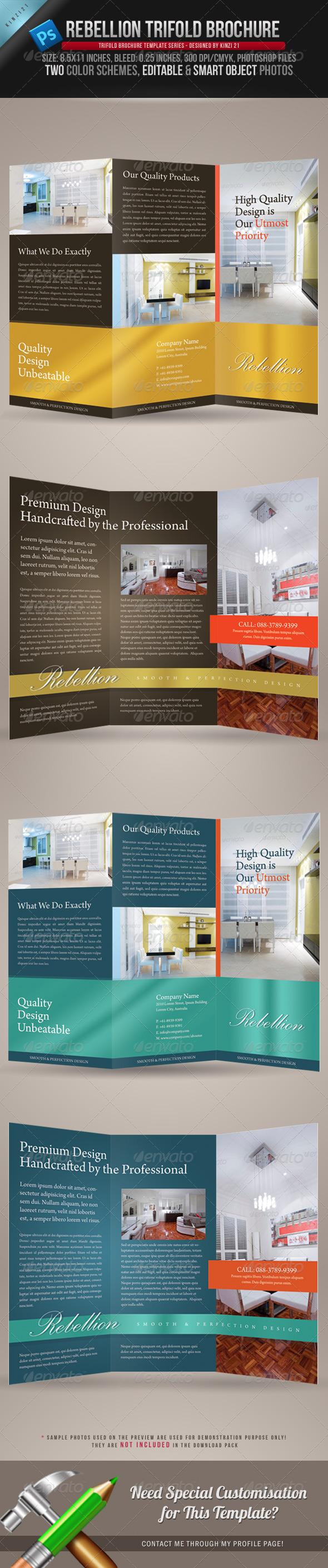 GraphicRiver Rebellion Trifold Brochure PSD Template 240713