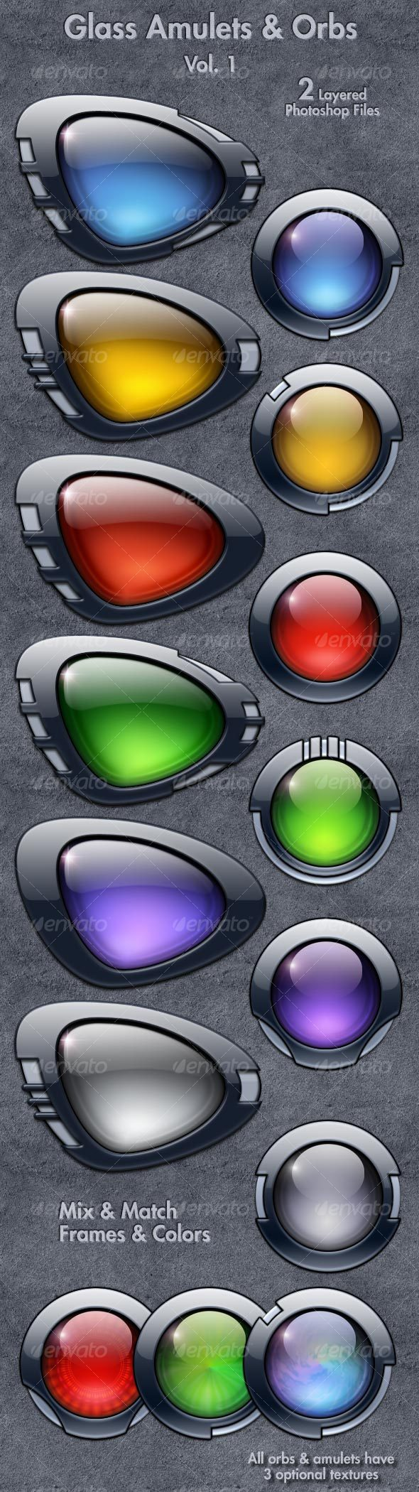 GraphicRiver Glass Amulets & Orbs Vol 1 76929