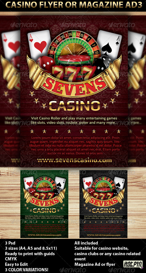 GraphicRiver Casino Magazine Ads or flyers Templates 4 2014150