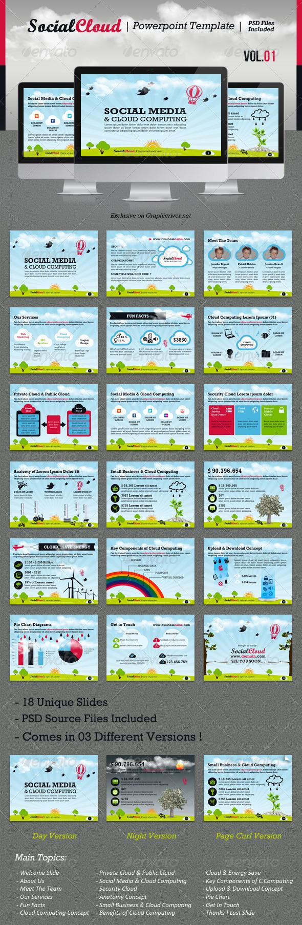 GraphicRiver SocialCloud Powerpoint Template V.01 2014331