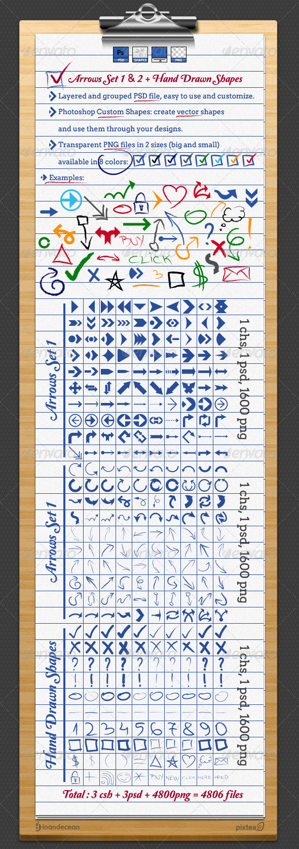 GraphicRiver Arrows and Hand Drawn Shapes and Custom Symbols 2014765