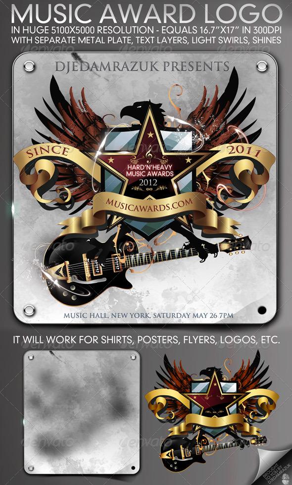 GraphicRiver 5100x5000 Music Award Emblem 234393
