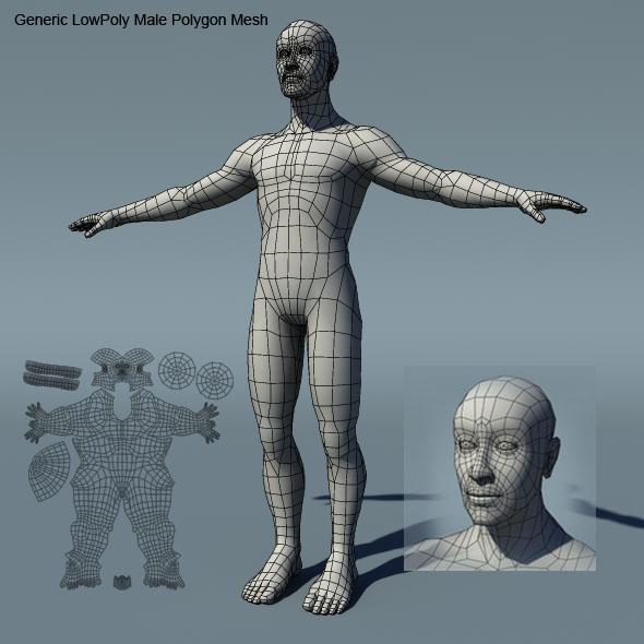 3DOcean Generic Male Low Poly BaseMesh 234471