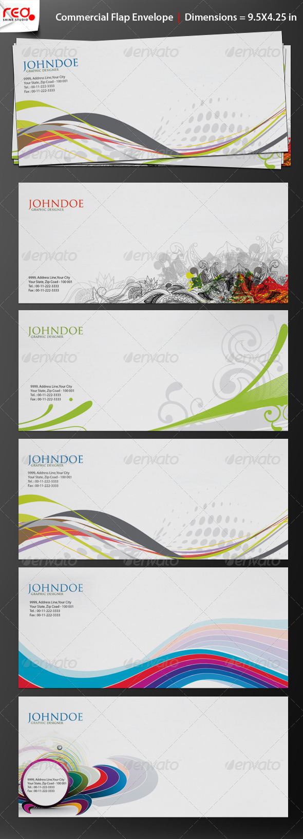 GraphicRiver Print Ready Commercial Bussiness Envelop 234476