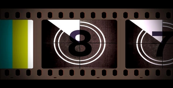 VideoHive Film Reel Countdown With Alpha 2018815