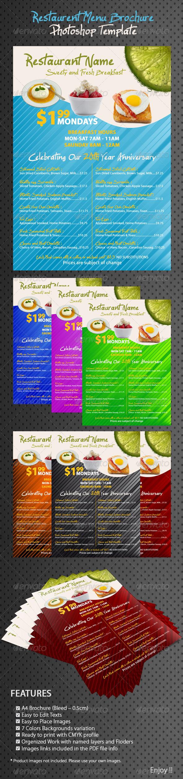 GraphicRiver Restaurant Coffee Breakfast Menu 234759