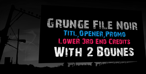 After Effects Project - VideoHive Grunge Film Noir 160264