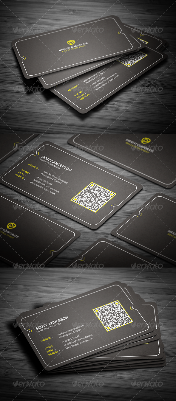 Graphic River Rounded Modern Business Card Print Templates -  Business Cards  Corporate 2021652